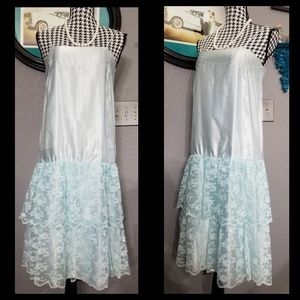 Stunning VTG Satin & Lace Slip Dress